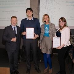 победители первого совместного конкурса RUSSCO и РакФонда Алексей  Румянцев (Москва) и Мария Степанова (Санкт-Петербург)